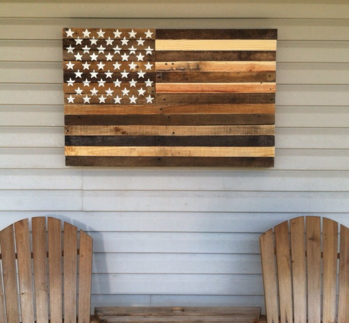 New DIY Planked American Flag At Maisondepaxcom Tutorial