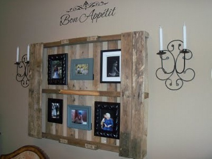 Wall decor ideas with pallets wood pallet ideas for Diy pallet home decor
