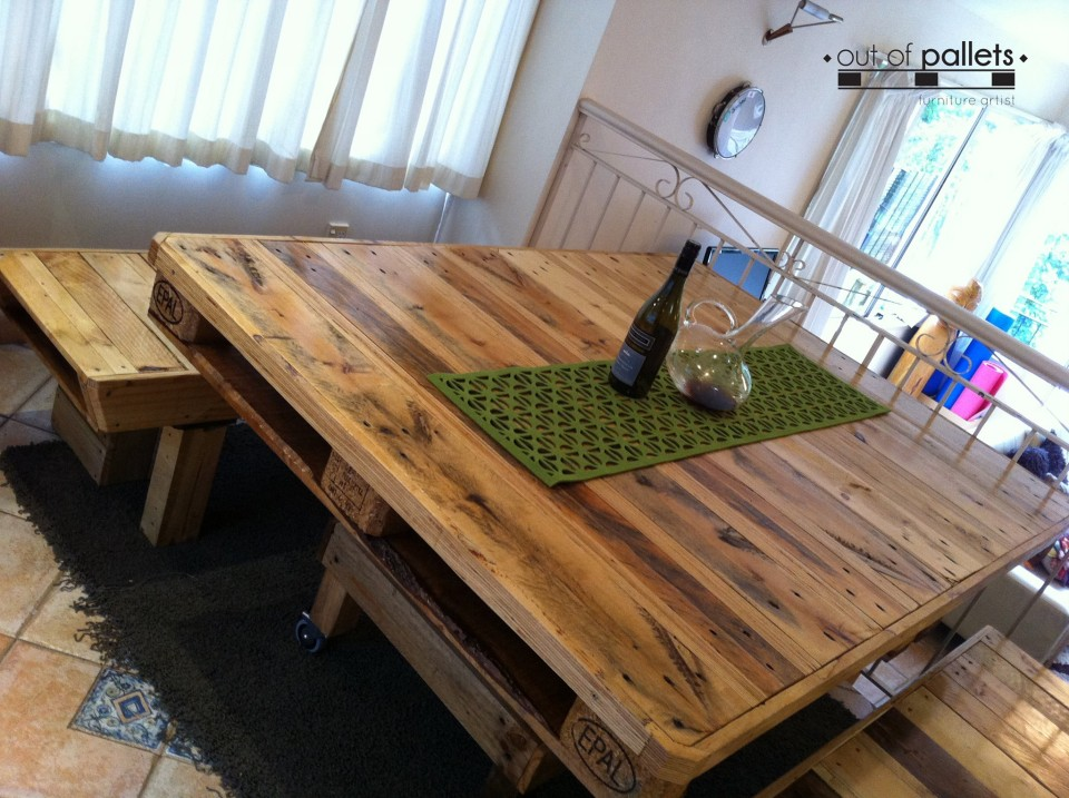 Pallets Wood Dining Table