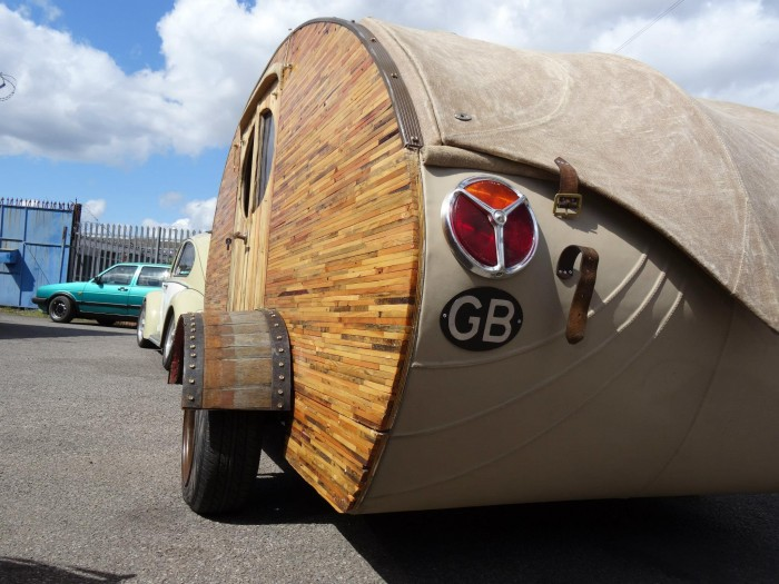Pallets Wood Made Tear Drop Trailers