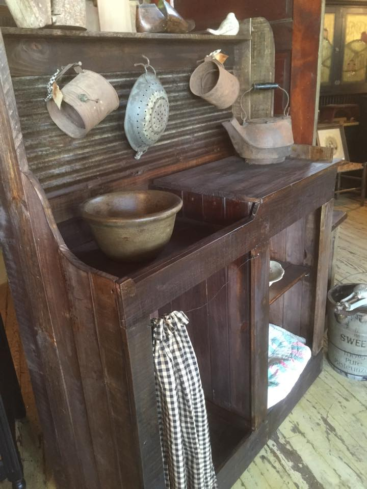 Primitive Dry Sink Made With Pallets Wood Pallet Ideas