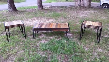 Tables with Pallet Wood Tops