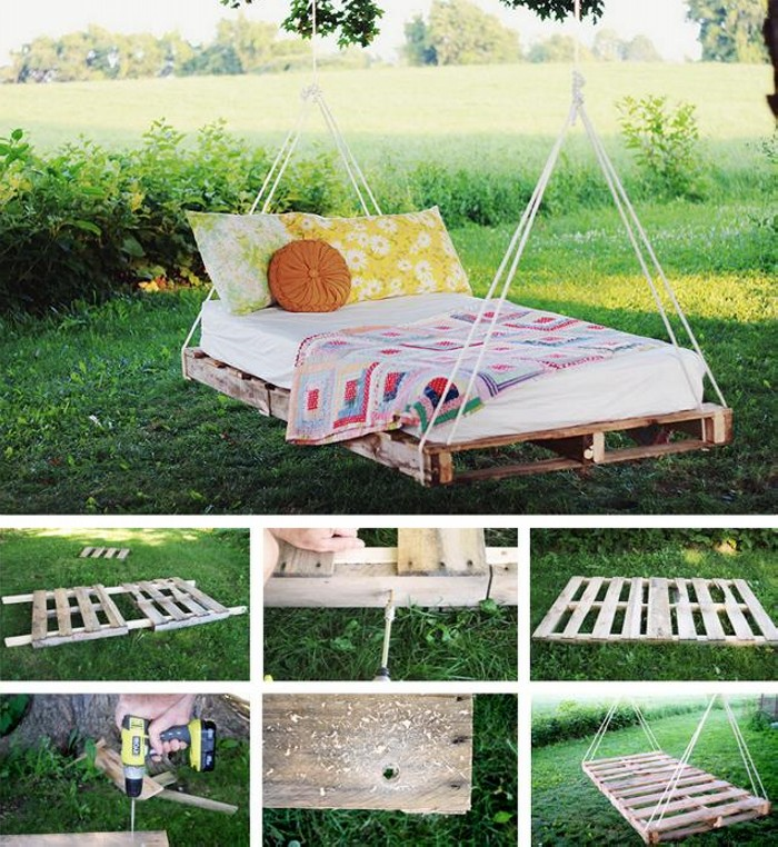 outdoor playground pallet swing