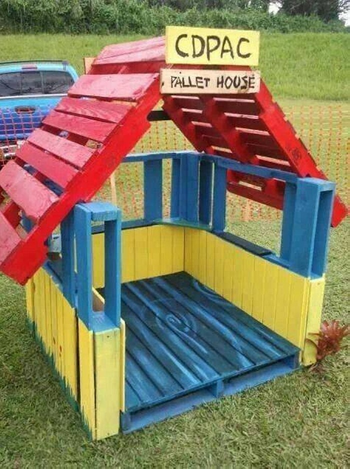 Cute pallet projects for kids pallet ideas recycled for Casitas de jardin infantiles