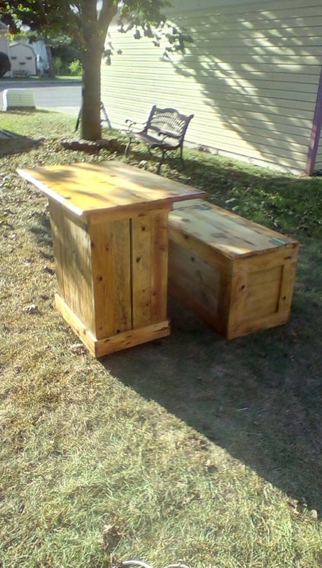 pallet made breakfast nook table pallet ideas Recycled Wooden Pallet Patio Furniture Pallet Deck Furniture