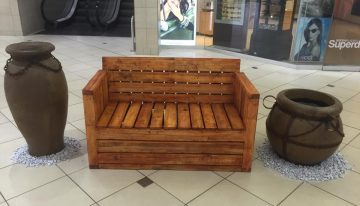 Pallet Wood Made Bench