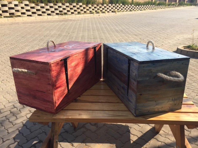 Pallet Wood Made Kids Toy Boxes