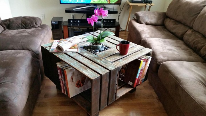 Pallet Wooden Coffee Table with Planter Pallet Ideas Recycled