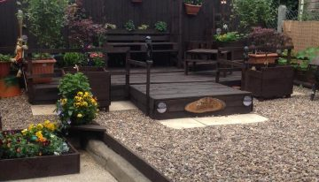 Pallets Wood Beautified Garden