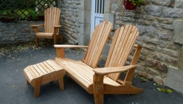 Pallets Made Patio Chair Set