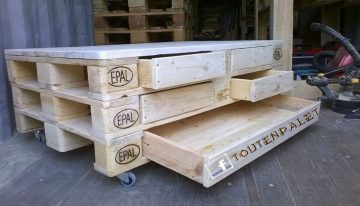 Pallets Coffee Table on Wheels