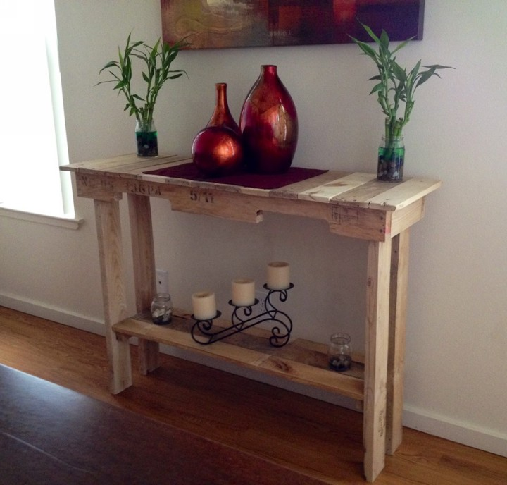 Wooden pallet side table pallet ideas recycled for Side table ideas