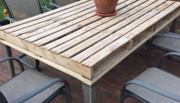 Patio Coffee Table Out of Wooden Pallets