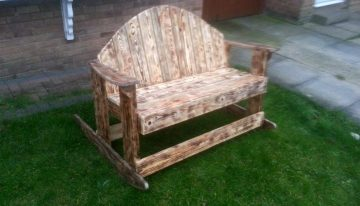 Recycled Pallet Rocking Bench