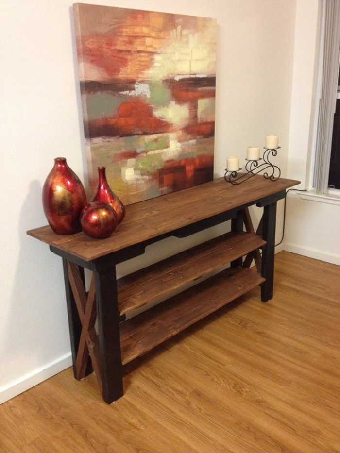Side Table Out Of Pallet Wood Pallet Ideas Recycled Upcycled Pallets Furniture Projects