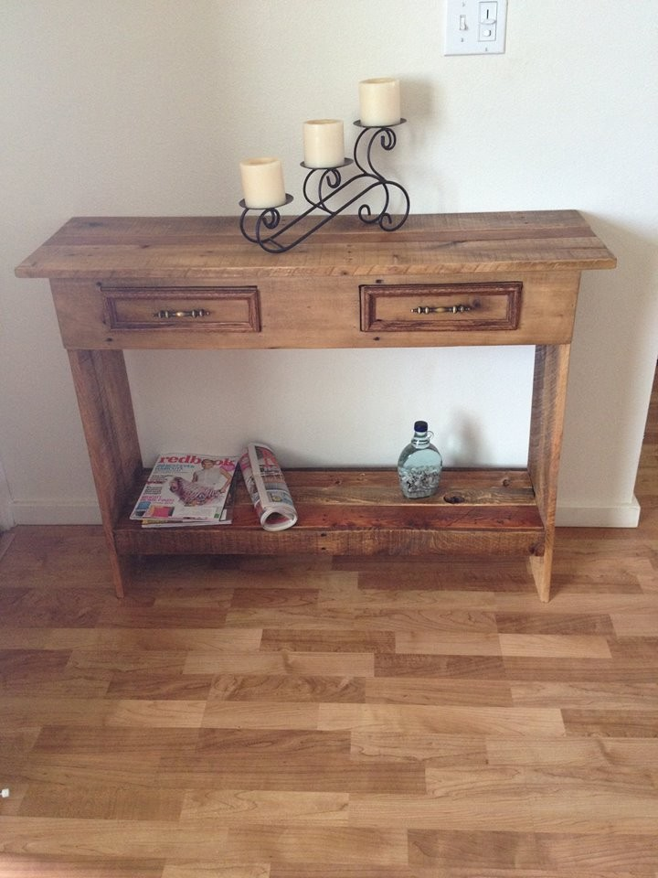 Wooden Pallet Side Table | Pallet Ideas