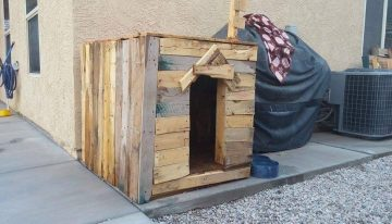 Dog Kennel From Wood Pallet