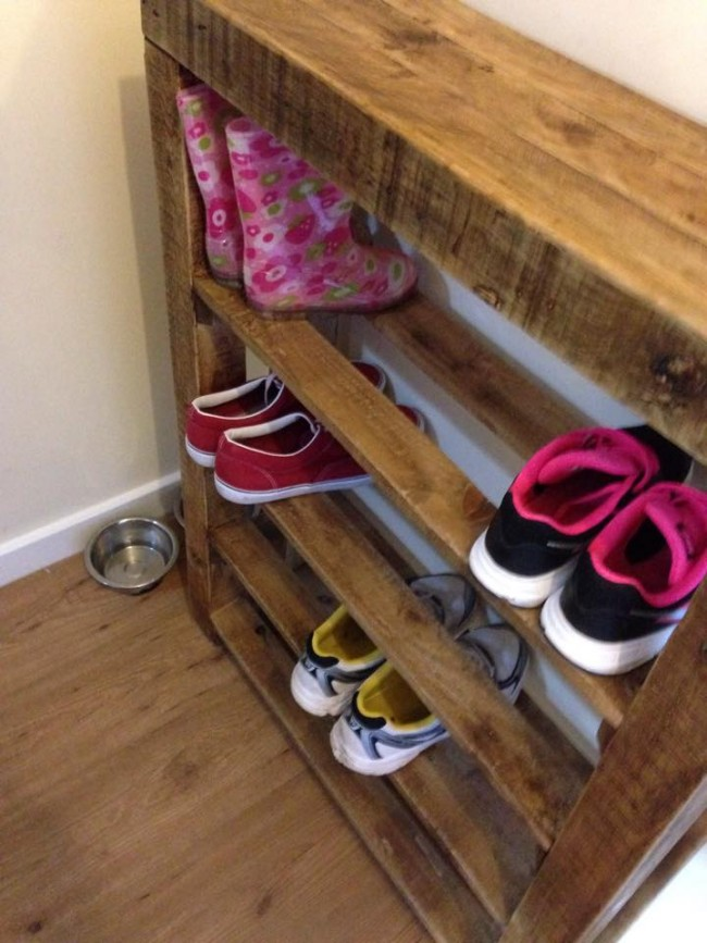 Pallet Wood Shoe Rack Ideas Recycled Upcycled