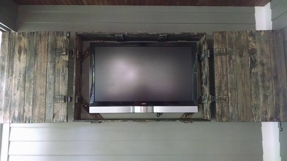 Pallet Wood Tv Screen Cover Pallet Ideas Recycled
