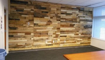 Pallet Wood Powered Accent Wall