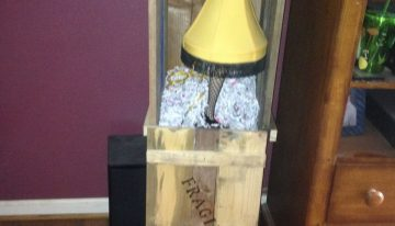 A Christmas Story Lamp Crate