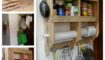 DIY Kitchen Shelf with Wood Pallets