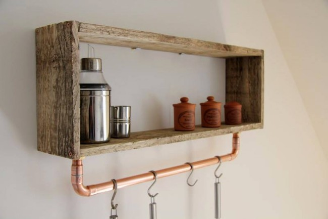 Little pallet wooden shelf pallet ideas recycled upcycled pallets furnit - Fabriquer une etagere ...