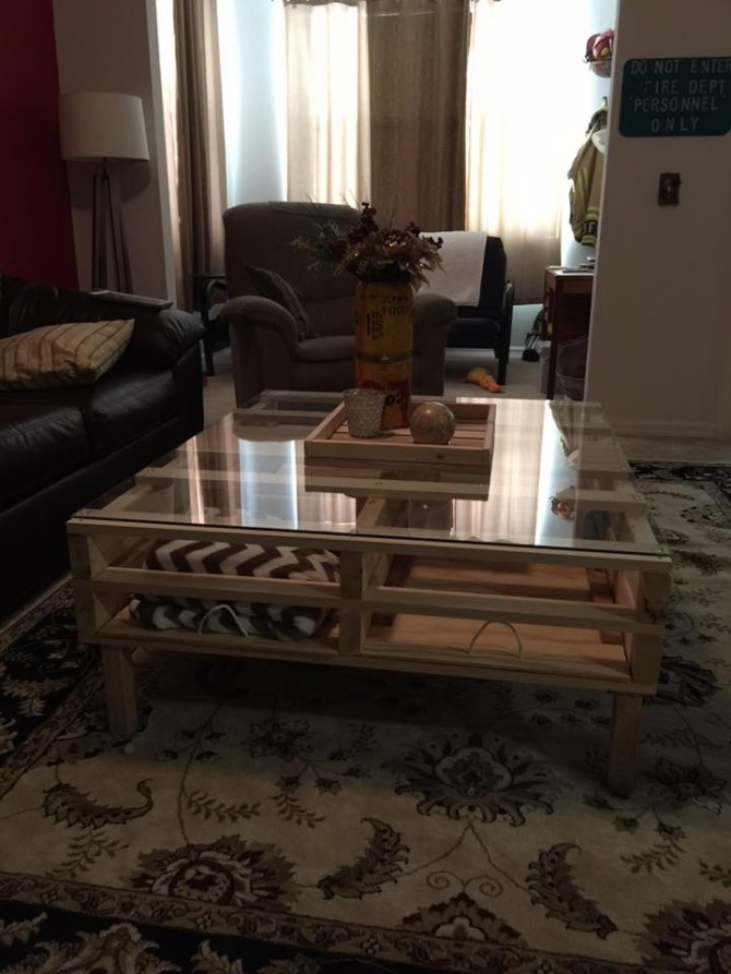 pallet coffee table with storage | pallet ideas: recycled