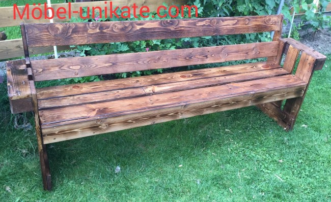 Wooden pallet patio garden bench pallet ideas recycled - Garden bench out of pallets ...