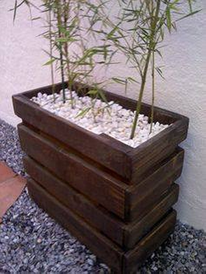 Wood pallet garden planters pallet ideas recycled - Maceteros con palets ...
