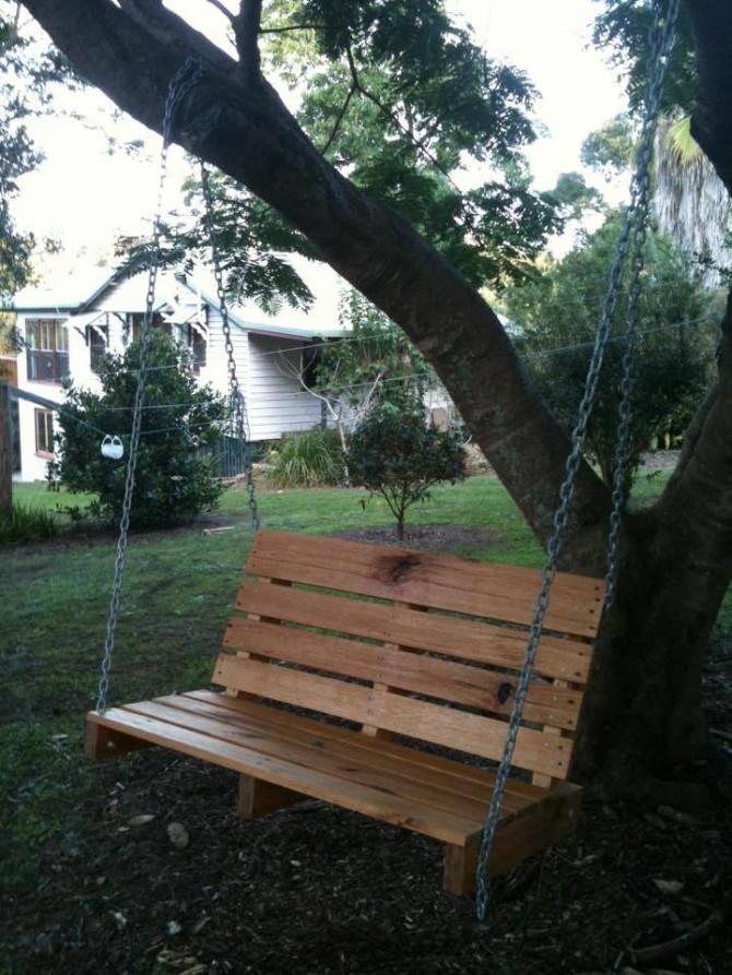Pallet Made Swing Seat