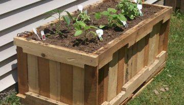 Wood Pallet Garden Planters