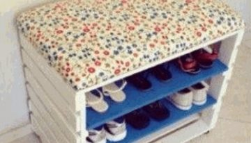 Pallet Shoe Rack Cum Side Table