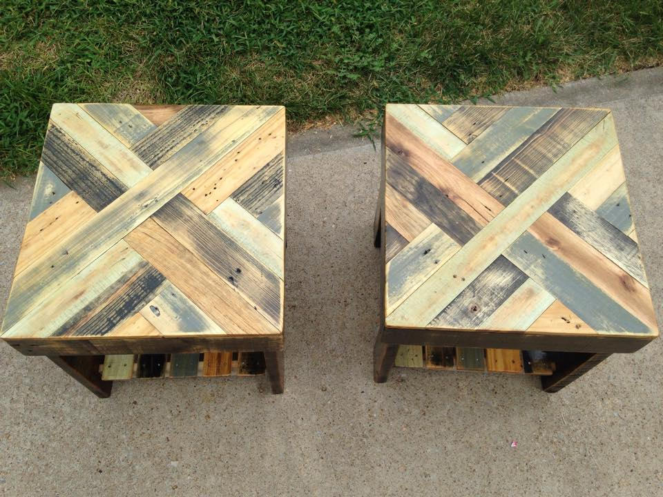 Pallet patio stools pallet ideas recycled upcycled for Stools made from pallets