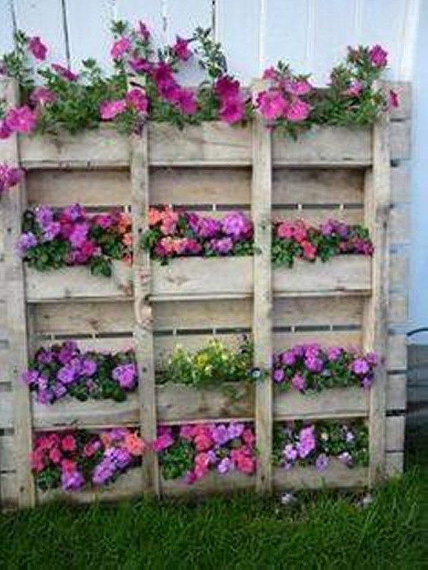 Stunning pallet wall planter projects pallet ideas recycled upcycled pallets furniture - Jardin vertical pallet ...
