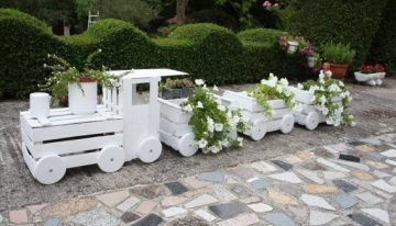 Train Made with Pallet Crates
