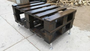 Pallets Wood Made Rustic Coffee Table