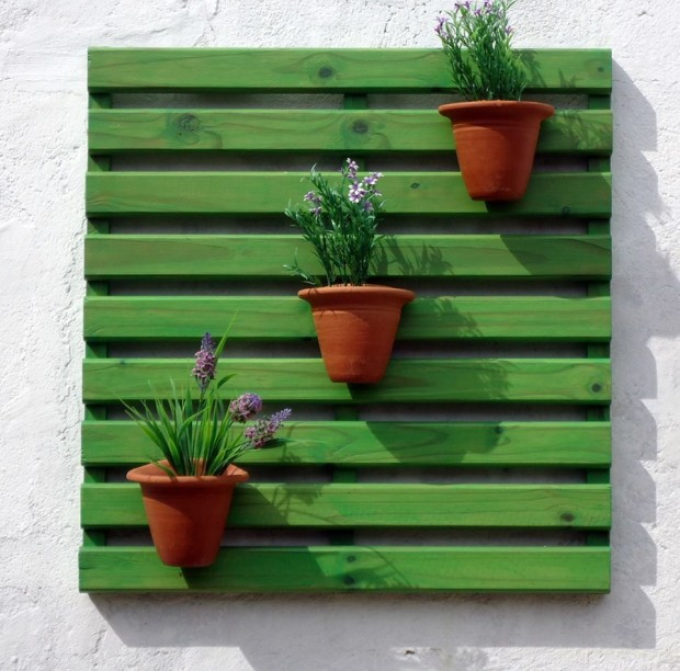 Stunning pallet wall planter projects pallet ideas - Decoracion palets jardin ...