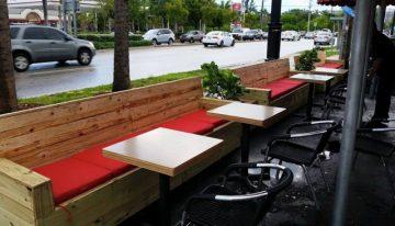 Wood Pallet Furniture at Restaurant