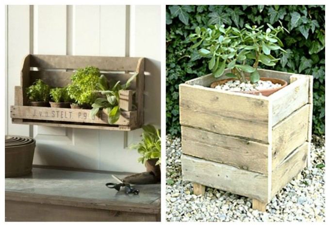 Wood pallet garden planters pallet ideas recycled for Wooden garden planter designs