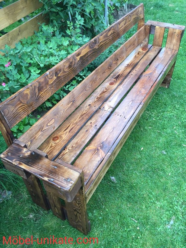 Wooden Pallet Patio Garden Bench | Pallet Ideas