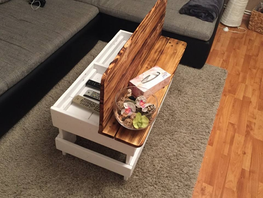 Wood Pallet Coffee Table With Storage Pallet Ideas