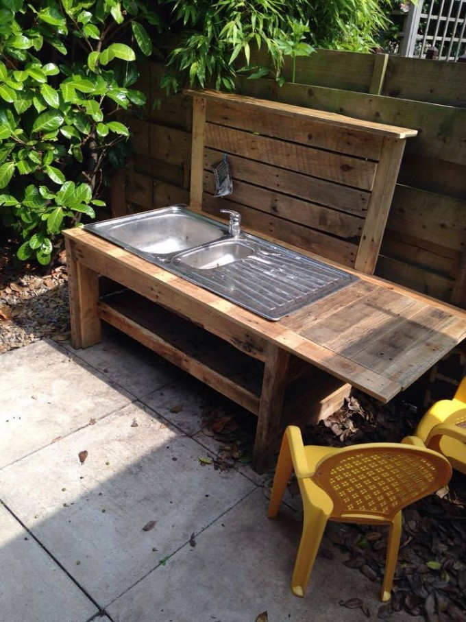 Pallet Mud Kitchen | Pallet Ideas: Recycled / Upcycled Pallets ...