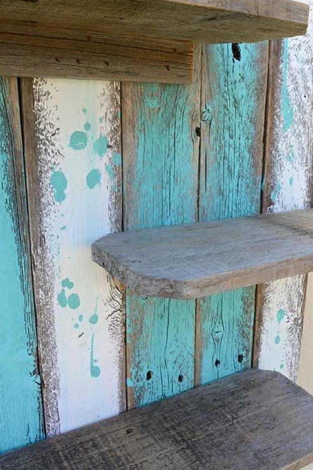 Simple Rustic Pallet Wall Shelf Pallet Ideas