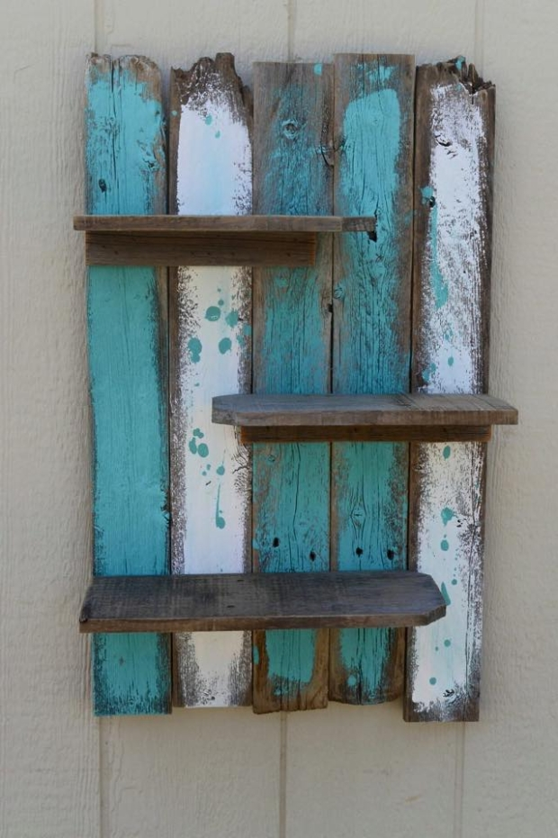 Simple Rustic Pallet Wall Shelf Pallet Ideas Recycled