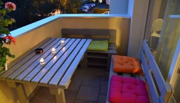 Pallets Wood Balcony Furniture