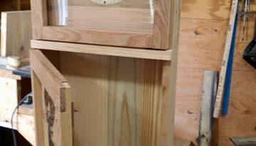 Wood Pallet Shaker Clock