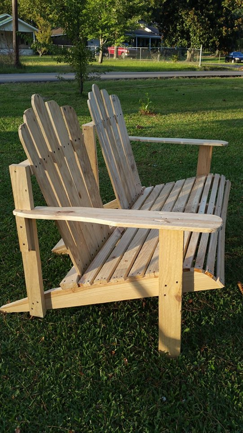 Wooden Pallet Adirondack Bench Chair Pallet Ideas Recycled Upcycled Pallets Furniture Projects