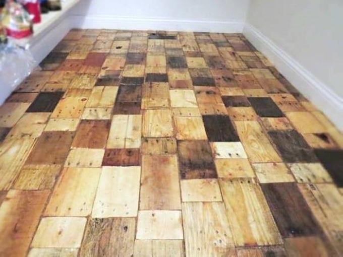 DIY Pallets Flooring DIY Pallet Flooring