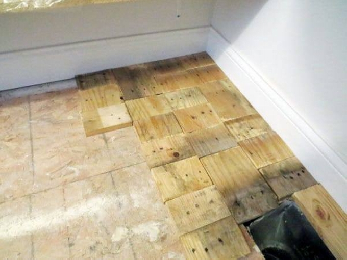 Diy Recycled Pallet Wood Flooring Pallet Ideas Recycled